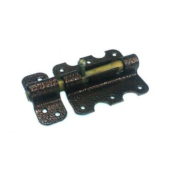 Засов У-5 фигурный 85 мм. (медь)