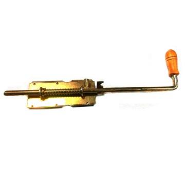 Засов У-1 дерев. ручка длинная 180 мм. (анодир.)