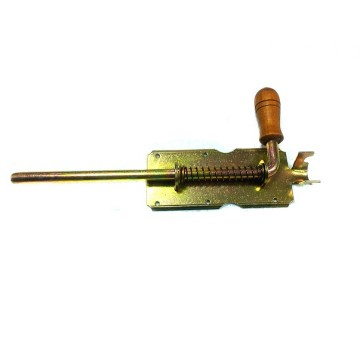 Засов У-1 дерев. ручка, длинный ригель 180 мм. (анодир.)