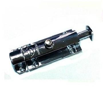 Шпингалет кнопка 65 мм. (хром)
