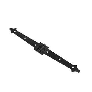 Петля Amig накладная черная мод.552 180х22х1,5 мм.