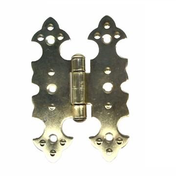 Петля для шкатулки фигурная 20х75 мм. (золото)