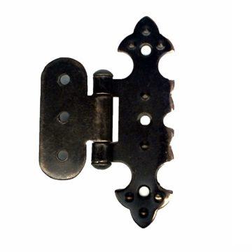 Петля для шкатулки фигурная О 20х75 мм. (медь)