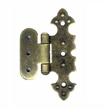 Петля для шкатулки фигурная О 20х75 мм. (бронза)