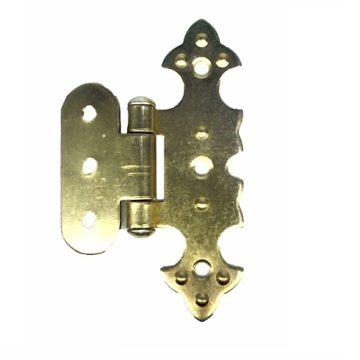 Петля для шкатулки фигурная О 20х75 мм. (золото)