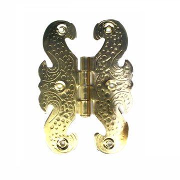 """Петля для шкатулки """"бабочка"""" 20х65 мм. (золото)"""