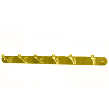 Крючки на планке KL-85 NO-6 PB (золото)