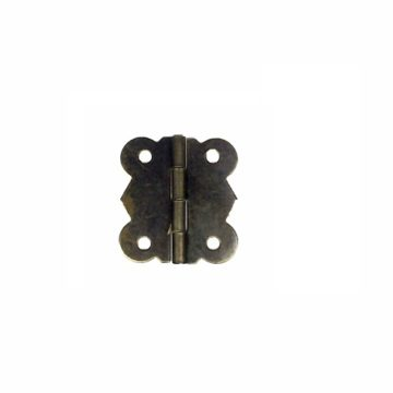 Петля для шкатулки фигурная 11х29 мм. (бронза)
