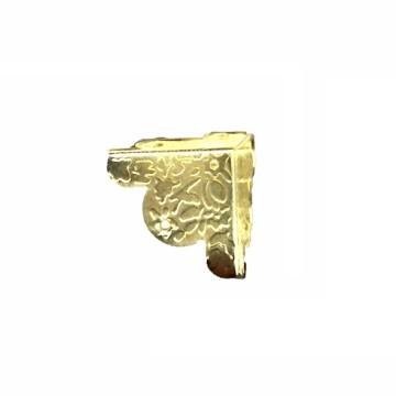 Уголок для шкатулки 30х30х30 мм. (золото) цветочный узор