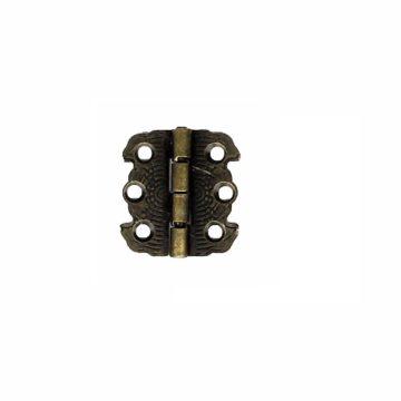 Петля для шкатулки 29х27 мм. ограничитель (бронза)