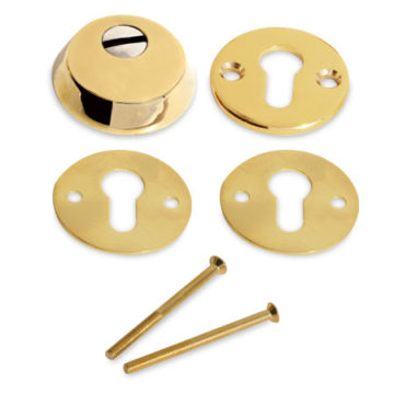 Броненакладка на цилиндр Apecs Protector Basic PVD G (золото)