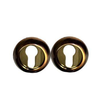 Накладка на цилиндр Casa de Bronces круг. (медь/золото)