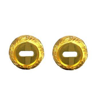 Накладка под сув.кл. Casa de Bronces круг. листики (мат.золото/золото)
