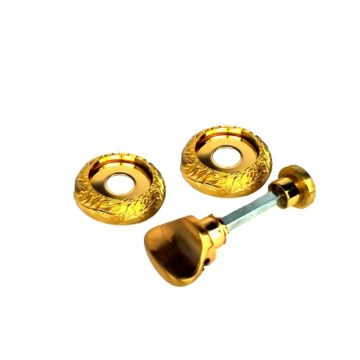 Фиксатор Casa de Bronces круг. листики (мат.золото/золото)