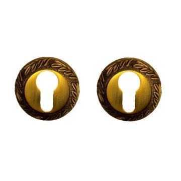 Накладка на цилиндр Casa de Bronces круг. листики (матовое кофе) 90 CYL MCF