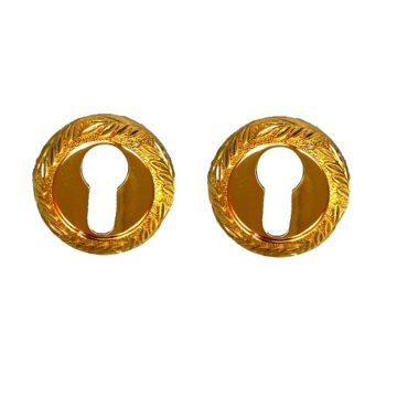 Накладка на цилиндр Casa de Bronces круг. листики (мат.золото/золото)