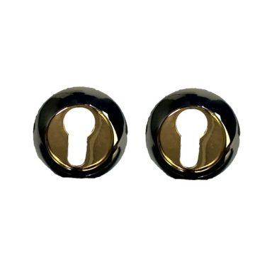 Накладка на цилиндр Casa de Bronces круг. (черный/золото)