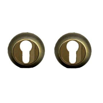 Накладка на цилиндр Casa de Bronces круг. (мат.бронза/золото)