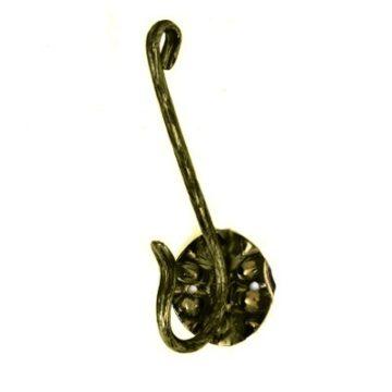 Крючок кованый двойной (бронза)