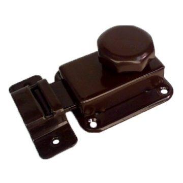 Задвижка мебельная (коричневая)
