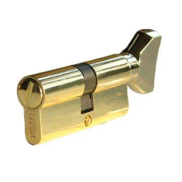 Мех. цилиндр сантехн. MSM W70 DAMX PB (золото)