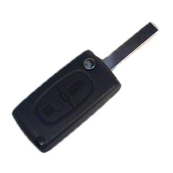 Корпус выкидного ключа для Peugeot 207, 607, 307, 308, 407, 807; Citroen, 2 кнопки, HU 83 - тип 3
