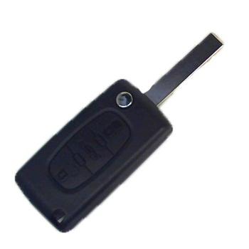 Корпус выкидного ключа для Peugeot 107, 207, 307, 308, 408, 3 кнопки, HU 83
