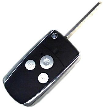Корпус выкидного ключа для Honda Jazz, CR-V, Odyssey, Civic, Accord, 3 кнопки