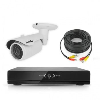 Комплект видеонаблюдения для дачи, офиса, дома 1 уличная камера 1MP AHD PST AHD-K01CL