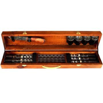 Набор шампуров в деревянной коробке малый SM-118