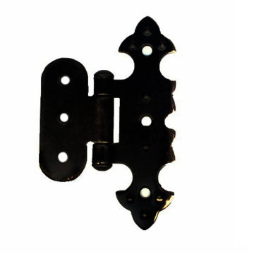 Петля для шкатулки фигурная О 20х75 мм. (черная)