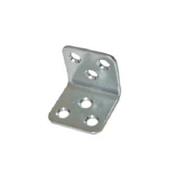 Уголок мебельный 25x25 (25x25x30x2) цинк белый