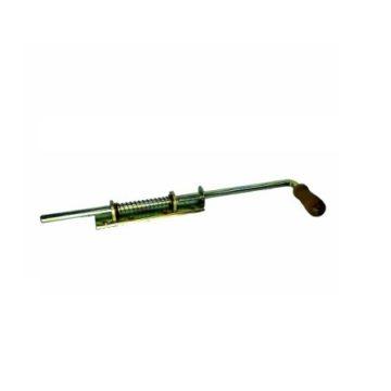 Засов № 14 дерев. ручка 190 мм. (анодир.) длин. ручка-130 мм., ригель-90 мм.