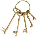 Ключи декоративные Дворянское гнездо (антик) 4067