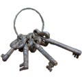 Ключи декоративные 4 шт. на кольце Амбарные 083832