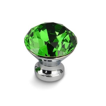 Ручка-кнопка страз КАК 30мм (зеленая)