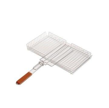 Решетка-барбекю нержавейка (390x350 мм.)