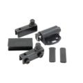 Механизм для витрин GH1 Black (фиксатор ручка 2 петли черный)